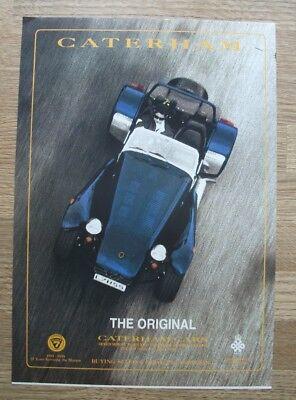 CATERHAM SUPER SEVEN - 1994 - ORIGINAL MOTOR ADVERT 30 X 21 CM WALL ART
