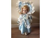 "16"" porcelain doll collectible by Leonardo"