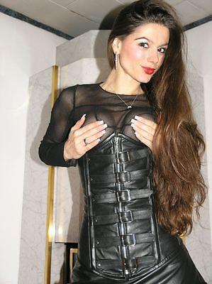 ECHTES LEDER Corsage Korsett Gothic Real Leather XXXXL Corset Ledercorsage K26