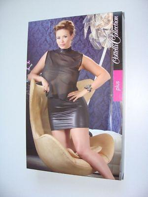 Cotelli Collection Plus Size Gr 2XL sexy teiltransparentes Kleid schwarz (Sexy Plus Size Kleid Schwarz)