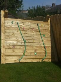 Solid wood climbing frame
