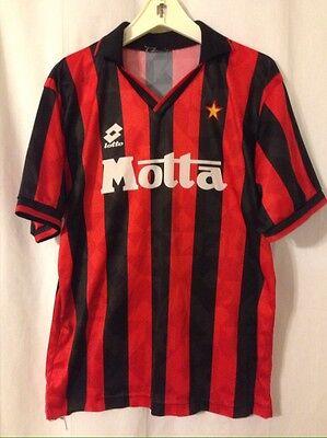 Vintage AC Milan Soccer Jersey Kit 1993-1994 Umbro Motta Medium/Large Blank