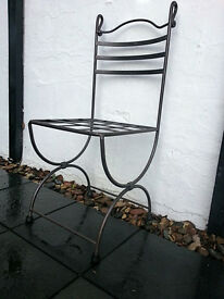 Wrought iron garden chairs, handmade, set of 4, orig. price over 400, excellent cond., 150 GBP