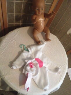 NEW BABY BORN DOLLS CLOTHES BUNNY OUTFIT  (he264)