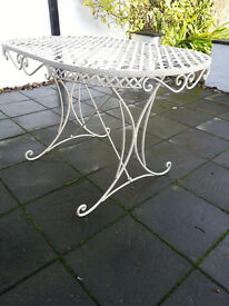 Antique garden table, Victorian, white, 80 GBP, local pick up only