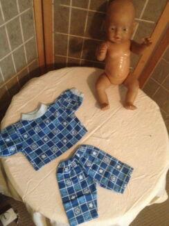 NEW BABY BORN DOLL CLOTHES CUSTOM MADE PYJAMAS (he274)