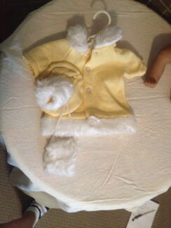 NEW BABY BORN DOLL CLOTHES - WINTER COAT SET (he270)
