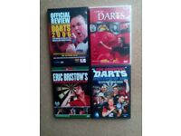 Darts DVDs x4 -rare- Premier League 2006, PDC Review 2007, Story of Darts, Bristow 1980-all official
