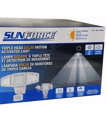 Sunforce Triple Head Solar Motion Activated Light 180 LED 1200 Lumens