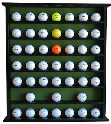 49 Golf Ball Display Case Cabinet, NO Door, Solid Wood, Black, GB20-BLA
