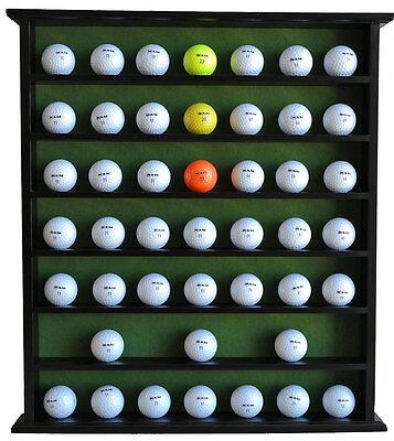49 Golf Ball Display Case Cabinet, NO Door, Solid Wood, Black, GB20-BLA