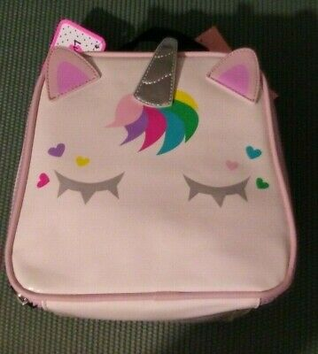 NWT Betsey Johnson Unicorn Insulated Lunch box Tote Bag school adorable cute