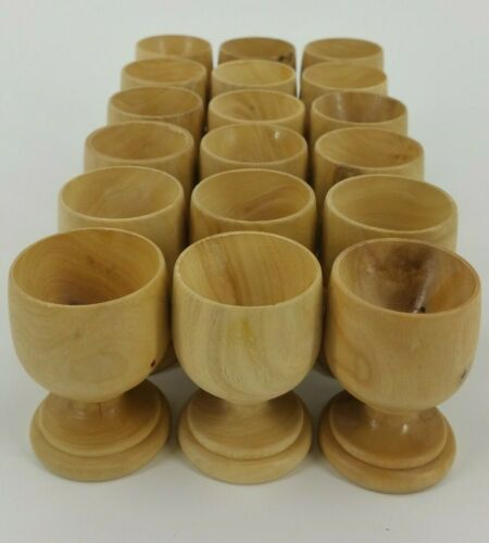 NEW Lot of 18 Wooden Egg Holder Cups Wood Craft Project Wedding Decorate Paint