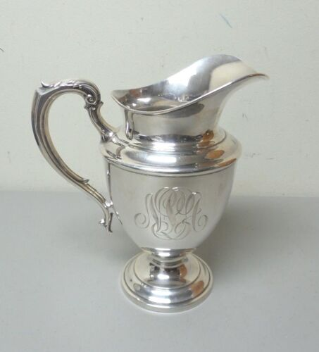 "VINTAGE TOWLE STERLING SILVER WATER PITCHER, MONOGRAM ""N P A"", 620 grams"