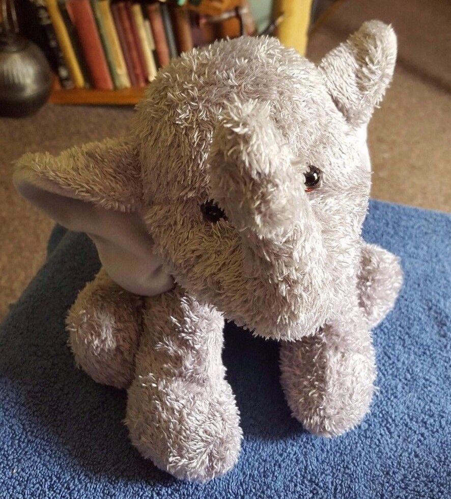 HTF GUND GREY ELEPHANT IVORY 31002 PLUSH SOFT STUFFED TOY 13