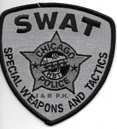 """Chicago  S.W.A.T., Illinois  (4"""" x 4"""" size) shoulder police patch  (fire)"""