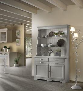 Credenza con piattaia dispensa colore grigio cucina - Credenza cucina vintage ...