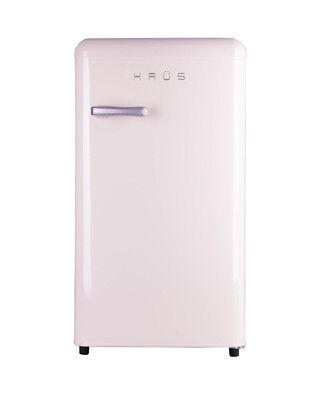 Bauer Haus Undercounter Single Door Retro Fridge Freezer 84L Cream Chrome Handle