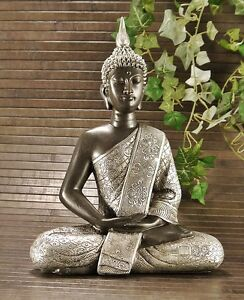 buddha figur bronze ebay. Black Bedroom Furniture Sets. Home Design Ideas