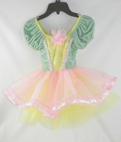 Revolution Green, Pink, Yellow Ballet Dance Costume Girl/ Kids Child
