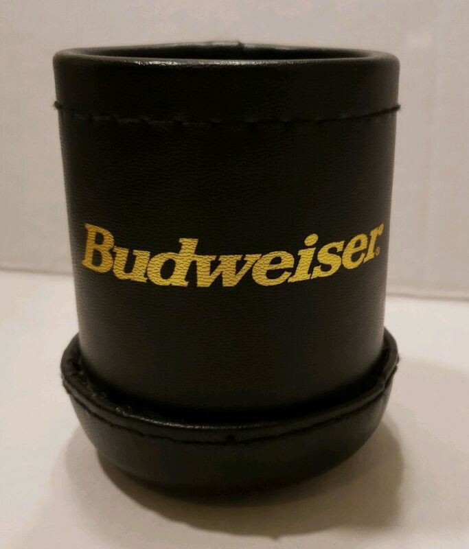 Budweiser Dice Cup Black With Gold Lettering