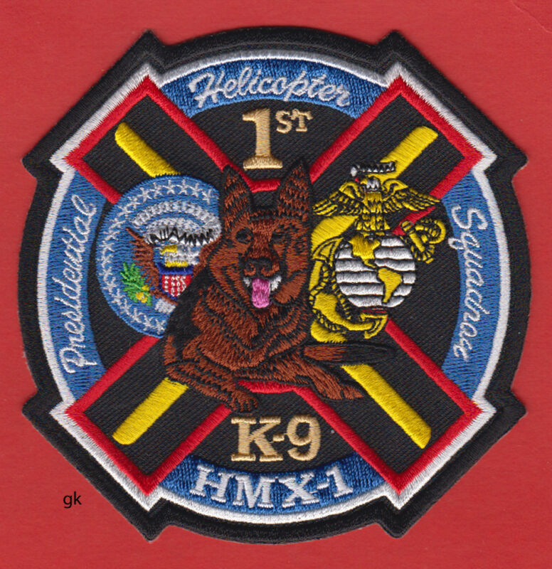PRESIDENTIAL HELICOPTER  MARINE SQUADRON K9 HMX-1 POLICE  SHOULDER PATCH