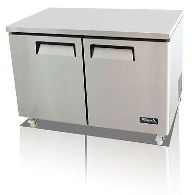 Migali C-u48f Under-counter Work Top Freezer Two Solid Doors With Warranty
