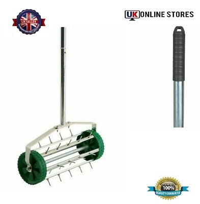 Gardening Lawn Aerator Grass Roller With 3 Level Adjustable Telescopic Handle UK