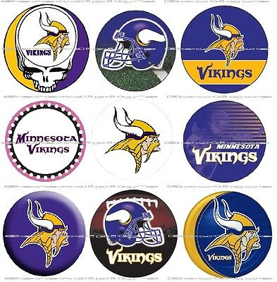 - 63 Ct. Minnesota Vikings Scrapbooking Bottle Cap 1