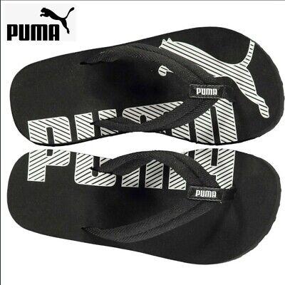 Genuine Puma Epic Flip Flops Boys infant Black Summer Footwear Beach Pool Size12