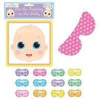 Baby Shower Pin The Dummy On The Baby Game - Up To 12 Players - widdle gifts - ebay.co.uk