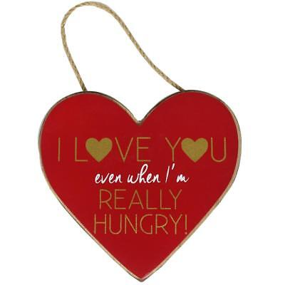 Red Mdf Hanging Heart Plaque I Love You Even When   Valentines Day
