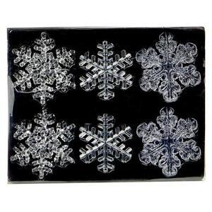 Premier-Decoracion-Navidad-Paquete-De-6-Inastillable-Transparente-COPOS-NIEVE