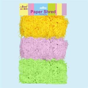 Easter Arts Craft Bonnet Decorations Egg Hunt - 3 Colour Shredded Paper