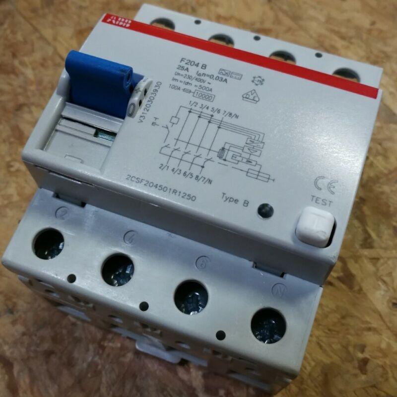 ABB F204B 25A 0,03A FI-Schutzschalter Typ-B 25A 30mA allstrom 2CSF204501R1250