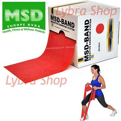 Msd FASCIA ELASTICA ROSSA Rotolo 22,50 mt MEDIA Primo Allenamento Band Pilates