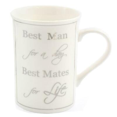 Wedding Day Thank You Gift - China Mug - Best Man for a day, Best Mates for