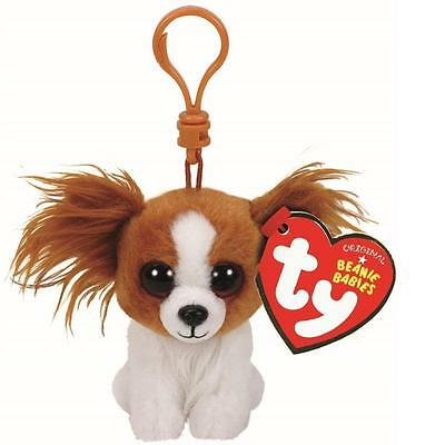Ty Beanie Babies Boos Barks Dog Key Clip 3  Stuffed Collectible Plush Toy New