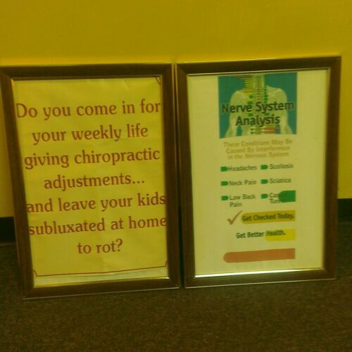 Lot 6 Poster Concept Frames Office Business Chiropractic