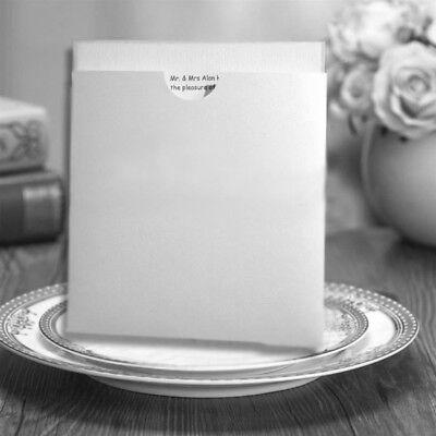 FROST WHITE POCKET WALLET INVITES EMBOSSED WHITE ENVELOPE, CARD & PAPER INSERTS Invitation Pocket Inserts