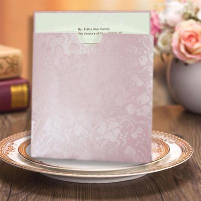 LAVENDER BRODERIE POCKET WALLET INVITATION MATCHING ENVELOPE CARD & PAPER INSERT Invitation Pocket Inserts