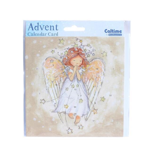 Christmas Countdown Advent Calendar Card - 24 Windows - 394393 Angel