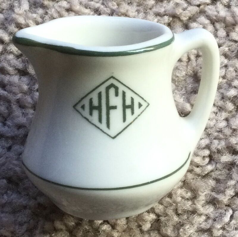 HENRY FORD HOSPITAL RESTAURANT WARE ADVERTISING CHINA CREAMER SYRUP PITCHER