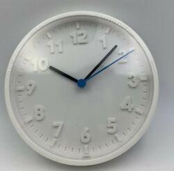 IKEA STOMMA BATTERY OPERATED WHITE WALL CLOCK NO DISTURBING TICKING SOUNDS