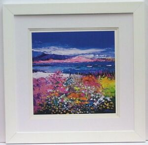 John Lowrie Morrison (Jolomo) Framed Print  Front Gardens and the Moorings Iona