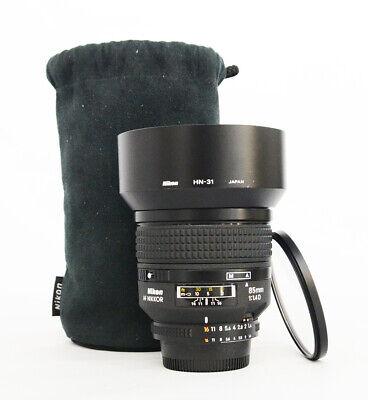 # Nikon AF NIKKOR 85mm f/1.4 D Auto Focus Lens S/N 226572