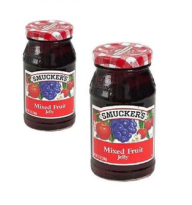 Mixed Fruit - Smucker's MIXED FRUIT JELLY, two 12-ounce Jars, NEW: Exp. 2020, not in stores