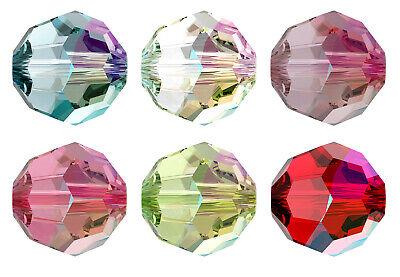 Genuine SWAROVSKI 5000 Crystal Round Beads * New Shimmer Colors