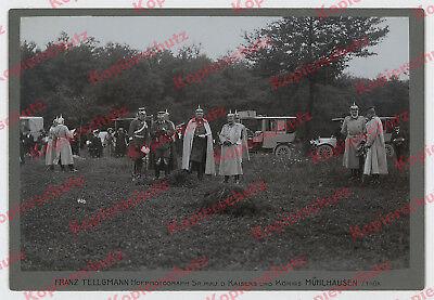 a71931c01646 Foto Kaisermanöver Wilhelm II. Generalstab Auto Mercedes-Benz Mergentheim  1909!!