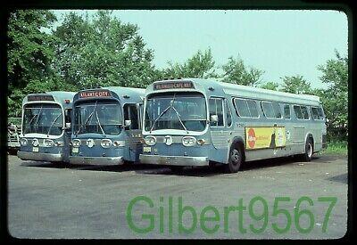 Transport of New Jersey (NJ) original bus slide line up taken 1980